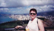 Tammy at Diamond Head, Honolulu.