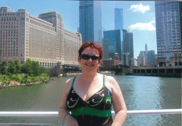 Tammy visiting Chicago, Illinois.