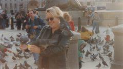 Tammy in Trafalgar Square, London.