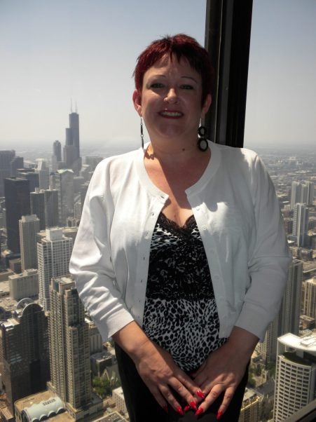 Tammy at the John Hancock Building, Chicago.