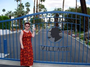 Tammy at the Blue Skies Village in Palm Springs.
