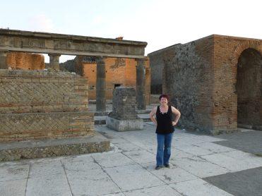 Tammy at Pompeii.