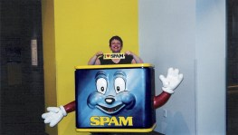 Tammy at the Spam Museum in Austin, Minnesota.