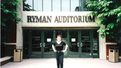 Tammy at Ryman Auditorium (Original site of the Grand Ole Opry), Nashville.