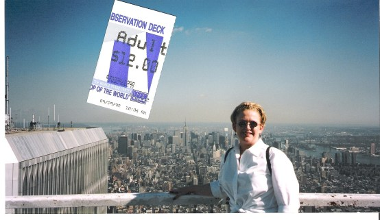 Tammy atop the World Trade Center in New York.