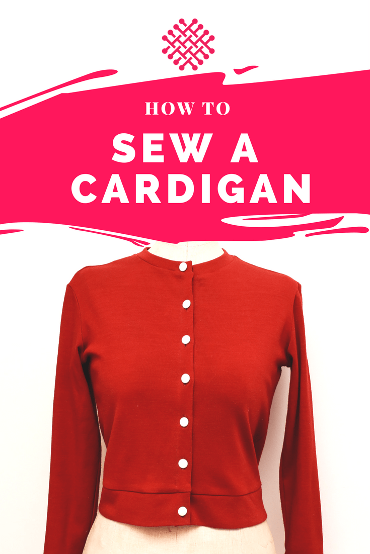 How to draft and sew your own cardigan - A sewing tutorial