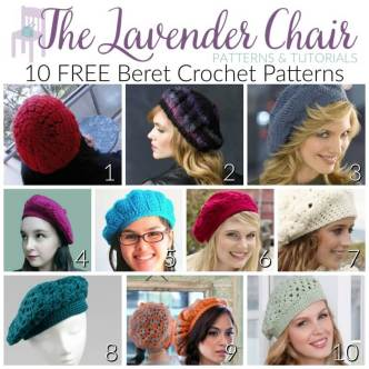 Free Beret Crochet Patterns - The Lavernder Chair