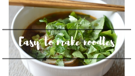 Easy to make noodles
