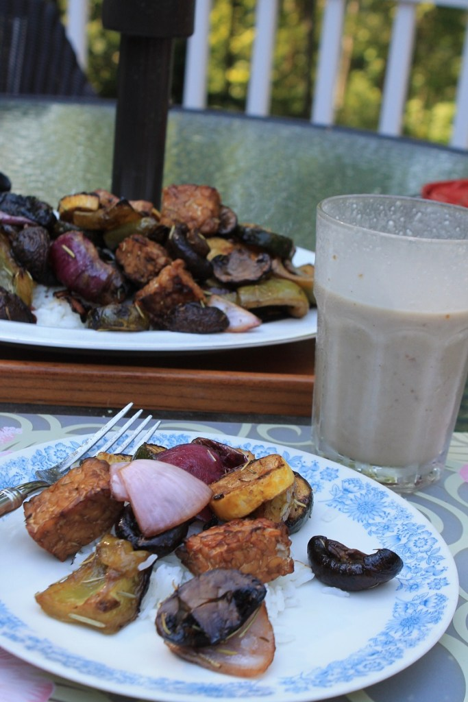 Grilled Tempeh and Veggies | The Lazy Vegan Baker