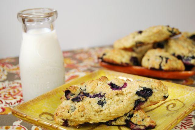scone15 Healthy Blueberry Scones