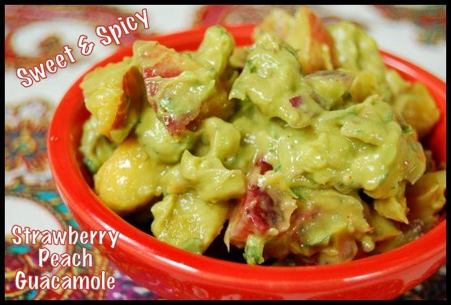 guac1 Sweet & Spicy Strawberry Peach Guacamole