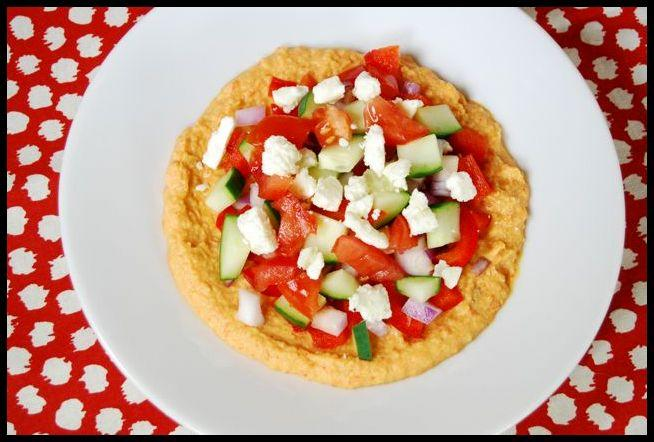 hummus1 Chunky Greek Hummus Plate