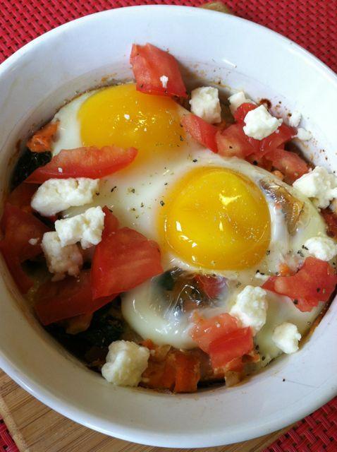 IMG 7380 Greek Baked Eggs & Salmon