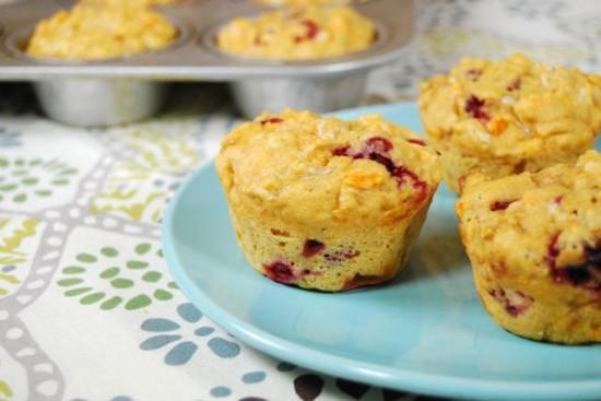 DSC 0532 e1352694082447 Cranberry Sweet Potato Cottage Cheese Muffins