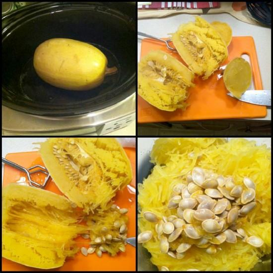 spagsquash7 e1354510839113 3 Ways to Cook Spaghetti Squash