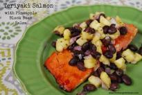 teriyaki salmon Teriyaki Salmon with Pineapple Black Bean Salsa