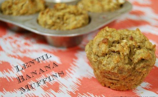 Did you know you can bake with lentils? I bet you wouldn't even know they're in these Lentil Banana Muffins. An easy way to boost your fiber intake!
