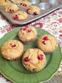 cranberry whole wheat muffins e1380075620283 Cranberry Whole Wheat Muffins
