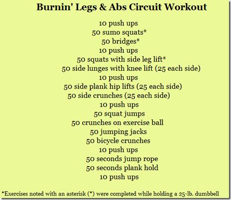 weekend circuit workout peanut butter fingers