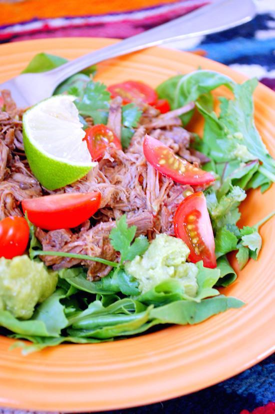 Slow Cooker Shredded Beef Barbacoa Salad Slow Cooker Barbacoa (Shredded Beef)