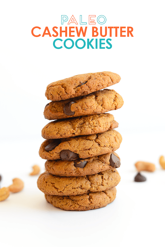 Cashew Butter Cookies via Fit Foodie Finds