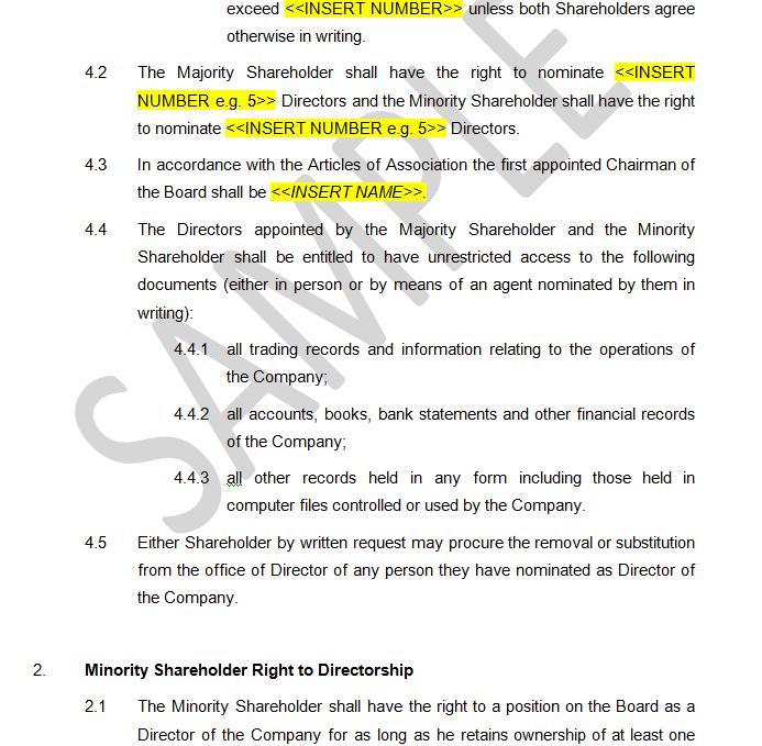 Shareholders Agreement - Protection Minority Shareholders The - shareholder agreement