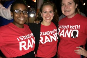 Zuri Davis, Brittany Wilson and Grace Charlton Standing With Rand.