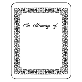 Bookplates - Laser  Inkjet Bookplates - In Memory of, 150/Pkg - bookplate template word