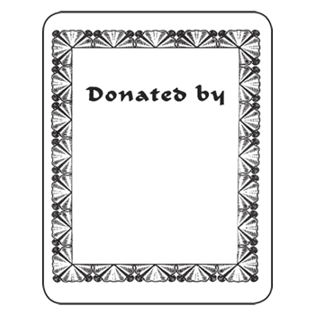 Bookplates - Laser  Inkjet Bookplates - Donated By, 150/Pkg - bookplate template word