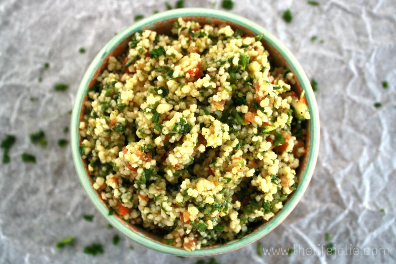This Tabouli is super easy to make- it's perfect to make ahead and serve to a group. Seriously, it's so good that I now get requests from family and friends to make this for every party! Click on the photo to read more...