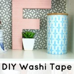 DIY Washi Tape Covered Letter