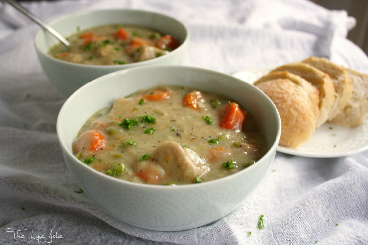 This Pork Stew is the perfect warm meal to warm you up on a chilly night! It's delicious served over boiled potatoes with a nice, crusty slice of bread!