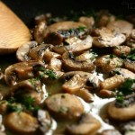 Sauteed Mushrooms in a Wine Reduction
