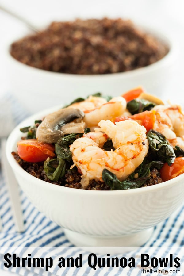 This healthy Shrimp and Quinoa Bowls recipe is delicious and very easy ...