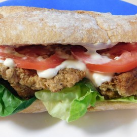 Chicken Fried Oyster Mushroom Sandwich