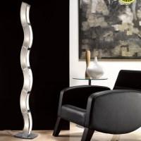 Duna Modern Floor Lamp Polished Chrome M0392   The ...