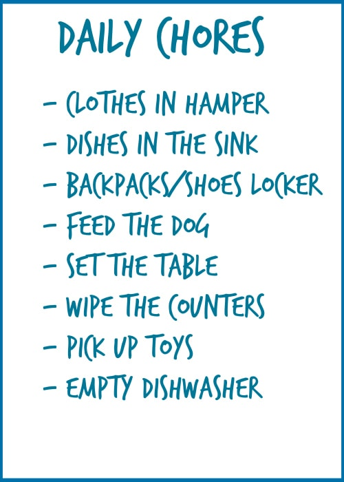 Friday Feels - Chores, Organization, and Allowance - The Lilypad Cottage - daily chore