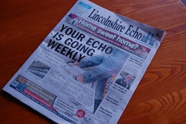 Lincolnshire Echo going weekly