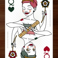 "Iris Luckhaus - Queen of Hearts playing card for Zeixs' ""52 Aces Reloaded"" Poker Deck"