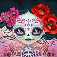 Amelia Calavera - Day of the Dead Sugar Skull