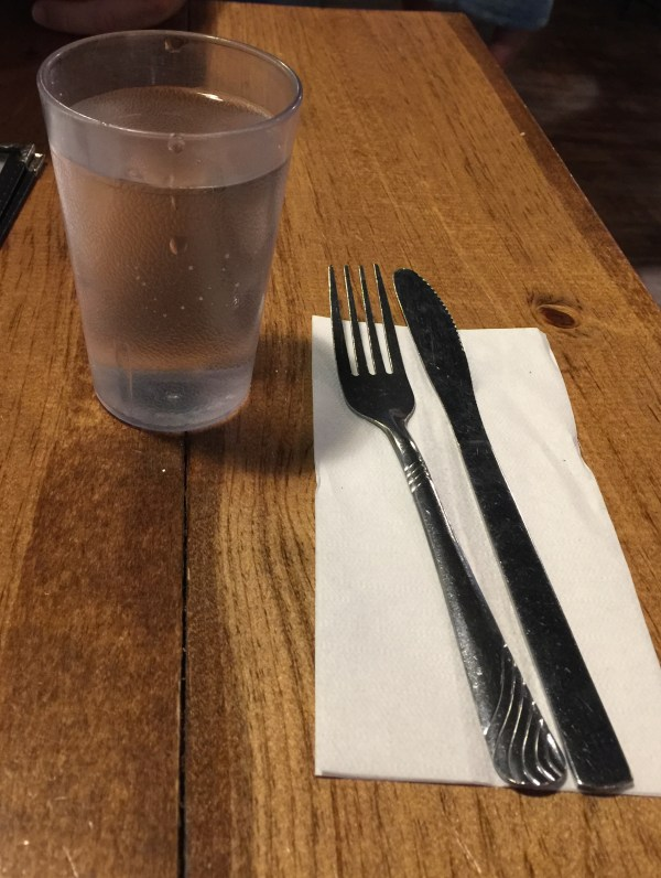 Hogtown Vegan Cutlery and Water | thelittleredspoon.com