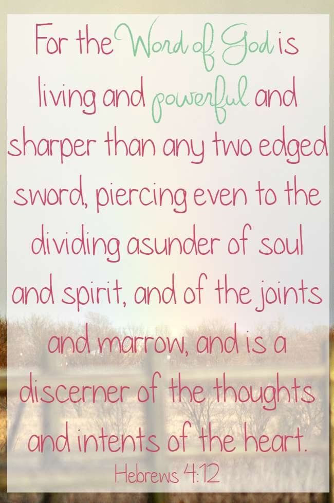 Word of God is Powerful \u2022 The Littlest Way