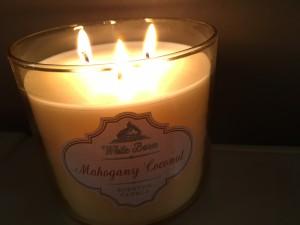 mahogany coconut candle