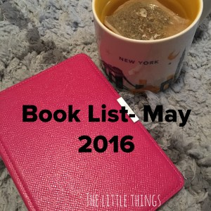Book List May 2016