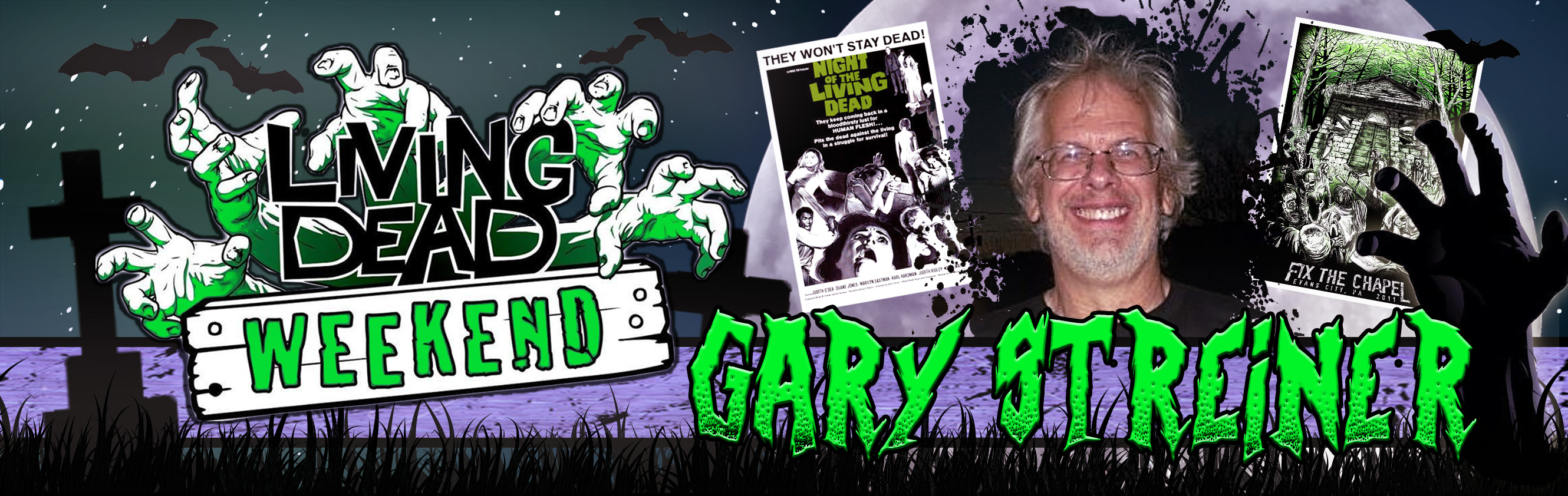 Night of the Living Dead's Gary Streiner will be a guest at the Living Dead Weekend 2016