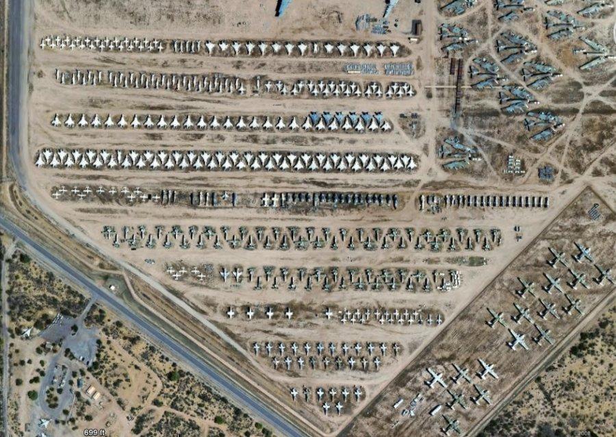 Davis Monthan Air Base Air Force Boneyard
