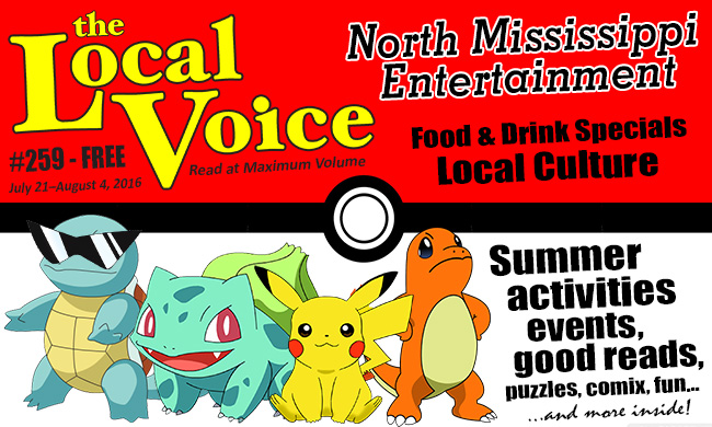 The Local Voice #259 Is Out Now – Entertainment Newspaper in Oxford, Ole Miss, and North Mississippi
