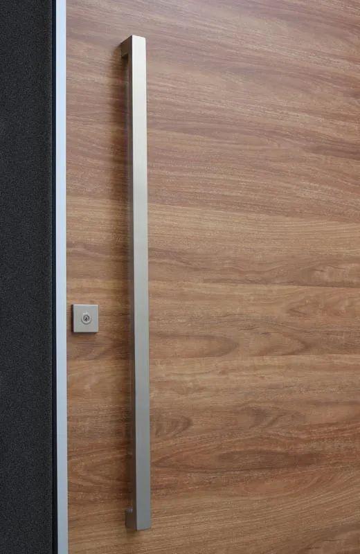 Matte black entry pull set 1 2m long ideal for pivot doors