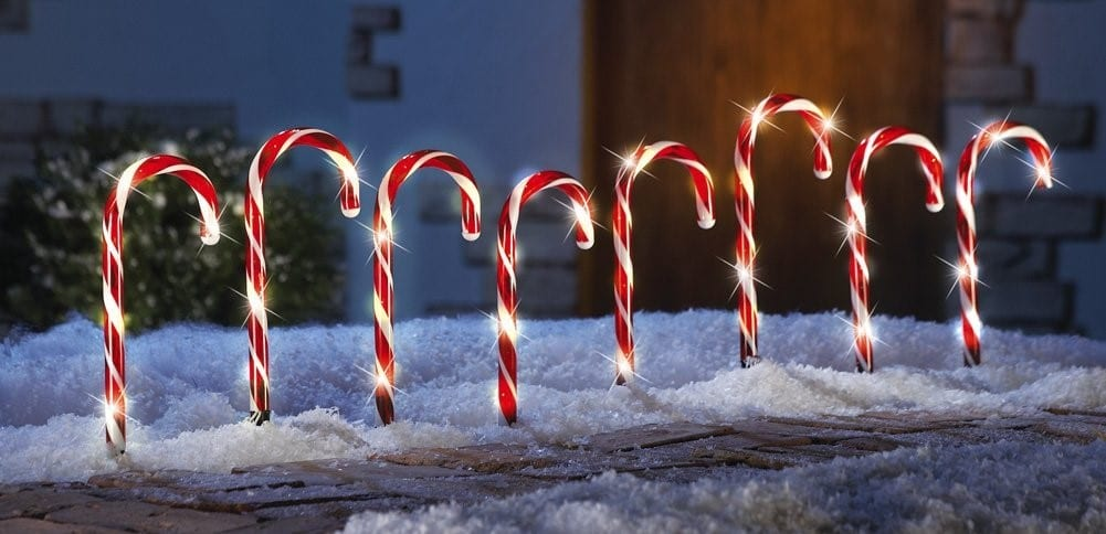 Candy canes lights outdoor democraciaejustica led candy cane holiday lights aloadofball Images