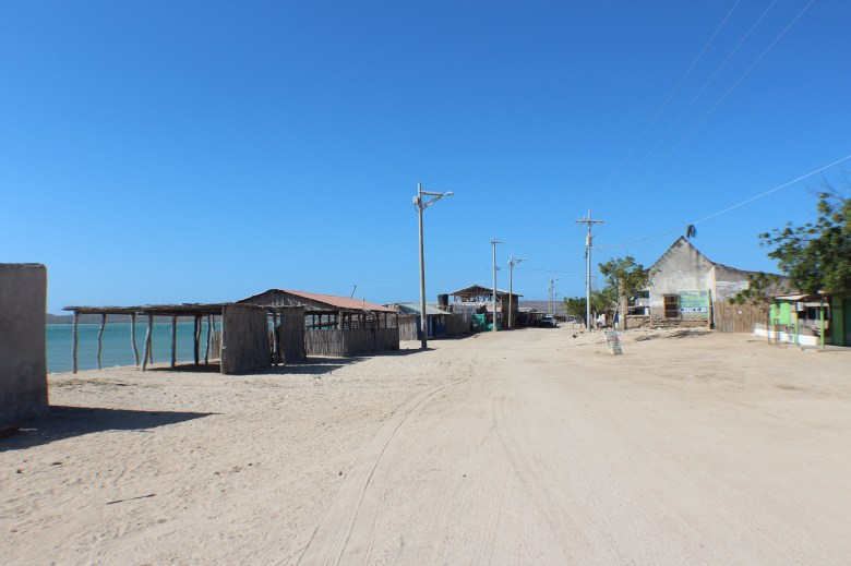 The street of Cabo de la Vela. Not much here.